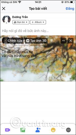Cách viết status Facebook lên ảnh - Ảnh minh hoạ 9