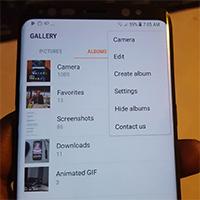 Cách ẩn album ảnh trên điện thoại Samsung