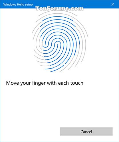 Đặt ngón tay ở các góc khác nhau trên đầu đọc dấu vân tay