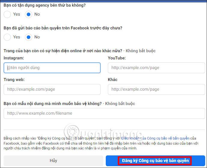 Cách đăng ký Công cụ bảo vệ bản quyền Facebook - Ảnh minh hoạ 3