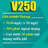 Cách đăng ký gói V250 Viettel nhận 90GB/tháng