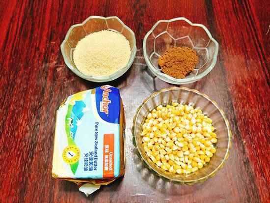 Nguyên liệu làm bắp rang bơ