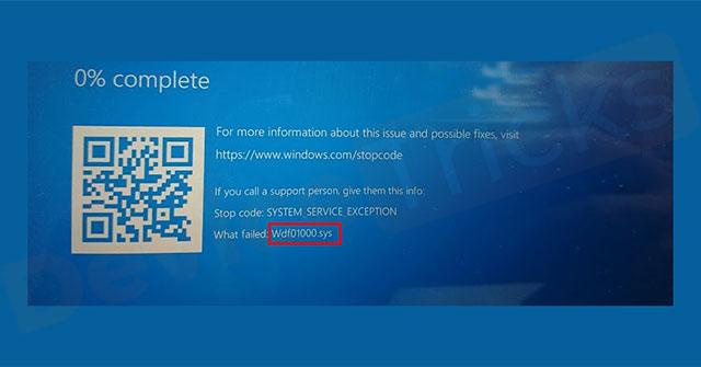 Cách sửa lỗi Wdf01000.sys trong Windows
