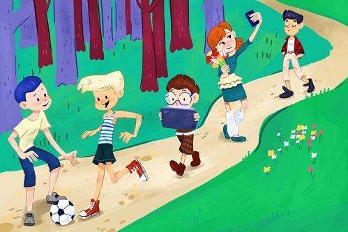 Lũ trẻ đi dạo