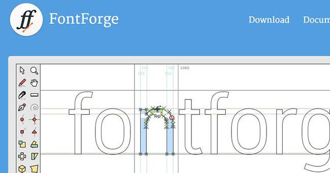 FontForge cho phép bạn thiết kế bộ phông chữ riêng và xuất dưới dạng file WOFF