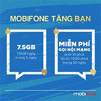 MobiFone tặng 7.5GB data/1000 phút gọi nội mạng thay lời xin lỗi