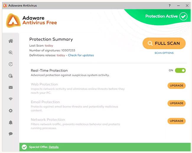 Đánh giá Adaware Antivirus Free: Cài đặt với một cú nhấp chuột