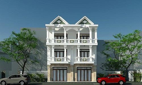 Ngôi nhà 3 tầng song lập được thiết kế theo phong cách châu Á cổ điển