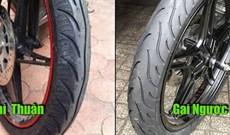 Vì sao lốp trước một số loại xe máy có gai ngược