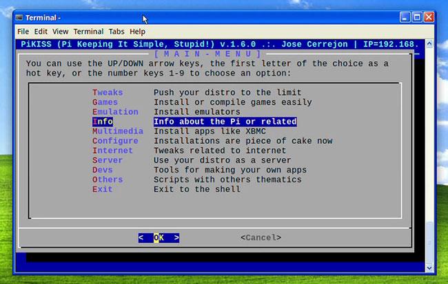 PiKISS là một bộ sưu tập các script hướng vào menu Terminal