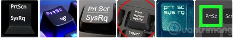 Một số phím Print Screen bạn có thể gặp