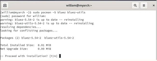 Cài đặt Bluez trên Arch Linux