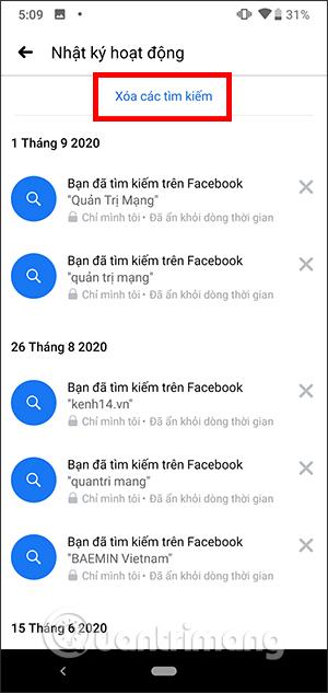 Cách xóa lịch sử tìm kiếm Facebook nhanh nhất - Ảnh minh hoạ 3