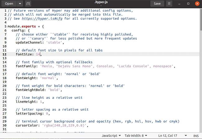 Truy cập file cấu hình của Hyper Terminal
