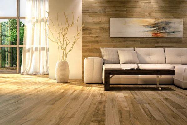 Tường gỗ phòng khách