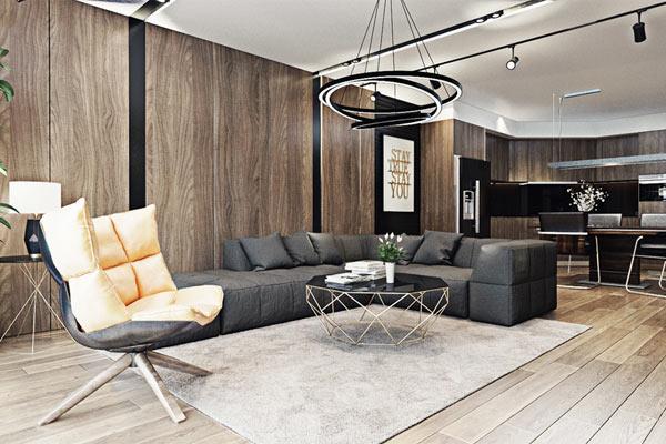 Tường gỗ đẹp cho phòng khách