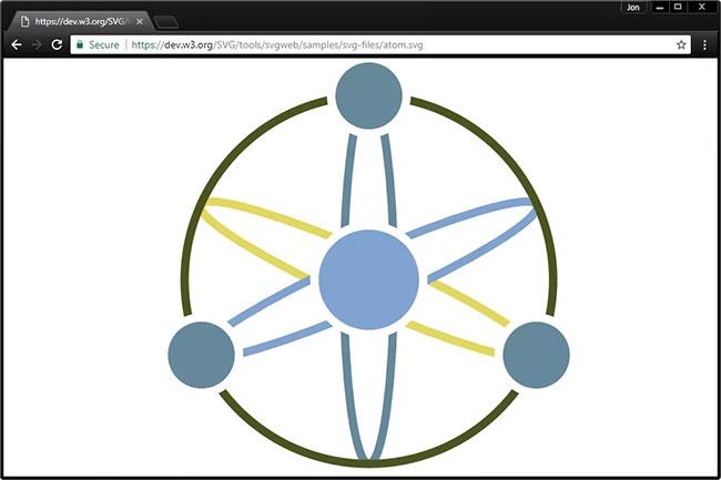 Cách dễ nhất để mở và xem file SVG là sử dụng trình duyệt web hiện đại