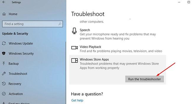Chạy trình gỡ rối ứng dụng Windows 10
