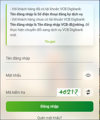 Cách chuyển tiền Vietcombank online