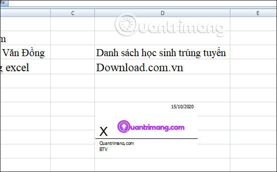 Cách chèn chữ ký trong Excel - Ảnh minh hoạ 6