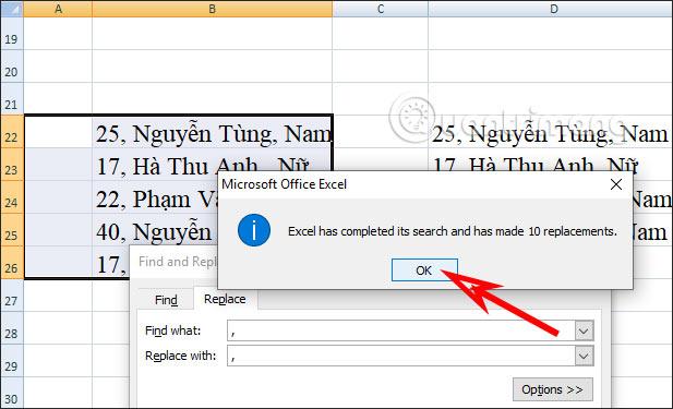 Cách tạo khoảng cách sau dấu phẩy trong Excel - Ảnh minh hoạ 4