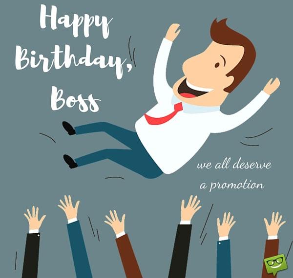Lời chúc mừng sinh nhật sếp hài hước