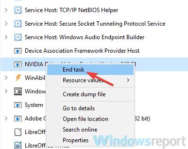 Khắc phục lỗi Nvidia Control Panel không mở/hoạt động/phản hồi
