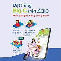 Cách đặt hàng siêu thị Big C ngay trên Zalo