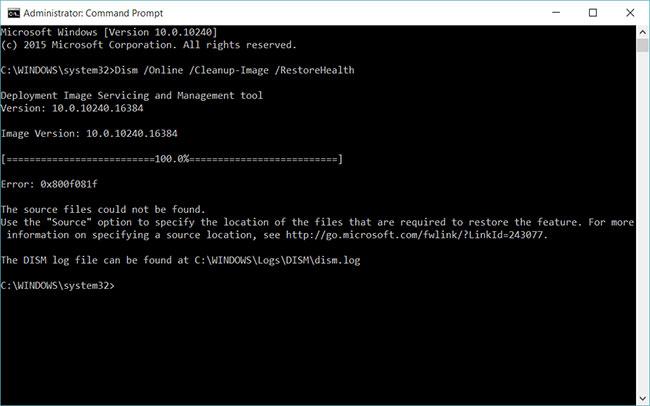 Sự khác biệt giữa CHKDSK, SFC và DISM trong Windows 10 - Quantrimang.com