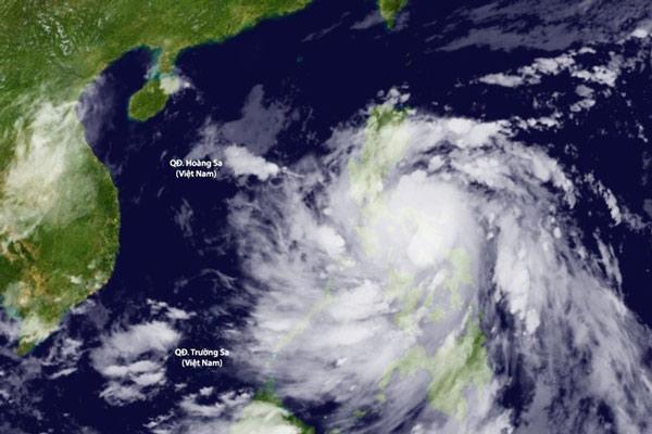 Ảnh vệ tinh cơn bão số 9 (bão Molave) đang tiến vào nước ta.