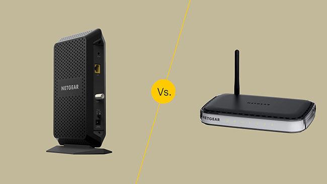 Modem và router có những điểm khác biệt