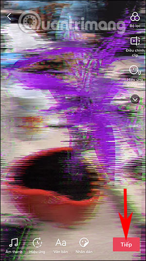 Cách quay video TikTok đổi cảnh từ xanh sang tím - Ảnh minh hoạ 5