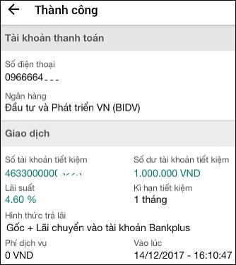 Hướng dẫn gửi tiết kiệm online BIDV nhanh chóng