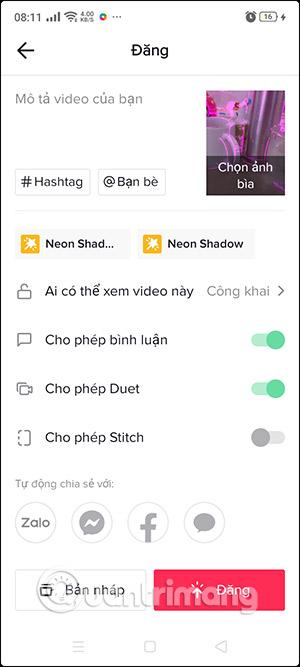 Cách quay video Tiktok hiệu ứng Neon - Ảnh minh hoạ 6