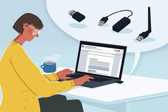 Dongle là một thiết bị nhỏ gọn, được thiết kế để cắm vào máy tính và kích hoạt nó cho các loại kết nối mạng cụ thể