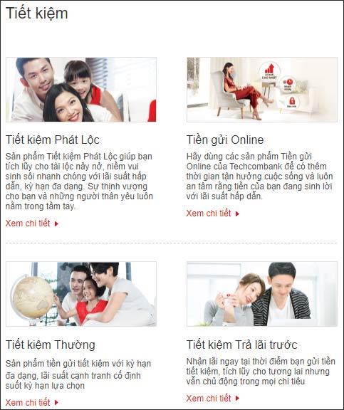 Hướng dẫn gửi tiết kiệm Techcombank online