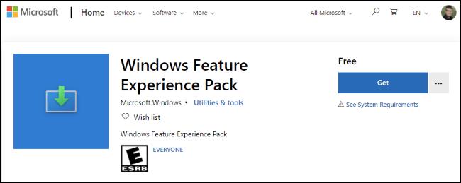 Feature Experience Pack vẫn tồn tại