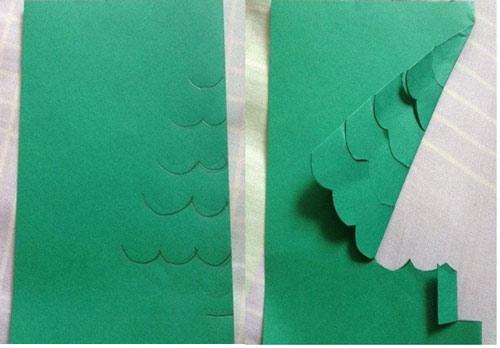 Làm thiệp Giáng sinh hình cây thông Noel tặng bạn bè