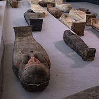 Ai Cập: Tìm thấy 100 quan tài cổ và 40 bức tượng chạm khắc tinh xảo tại một trong những khu nghĩa trang cổ đại kỳ bí nhất thế giới