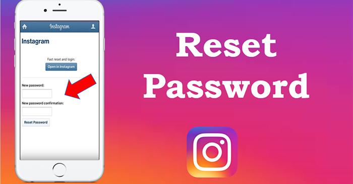 Cách lấy lại mật khẩu Instagram