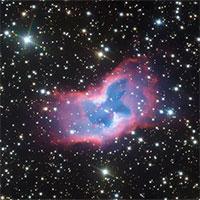 Tinh vân NGC 2899 hiện lên như một chú 'bướm ma' đang xòe cánh khoe sắc giữa vũ trụ