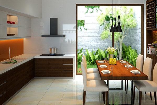 Phòng bếp đẹp cho nhà ống 9