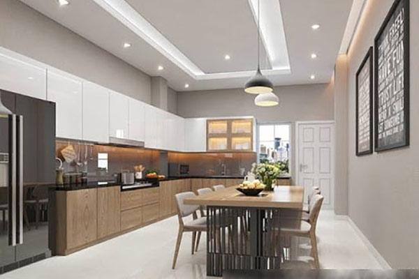 Phòng bếp đẹp cho nhà ống 13
