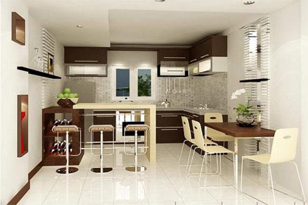 Phòng bếp đẹp cho nhà ống 14