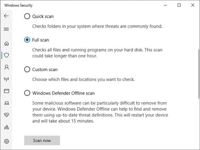 Quét virus để đảm bảo hệ thống của bạn không bị nhiễm phần mềm độc hại
