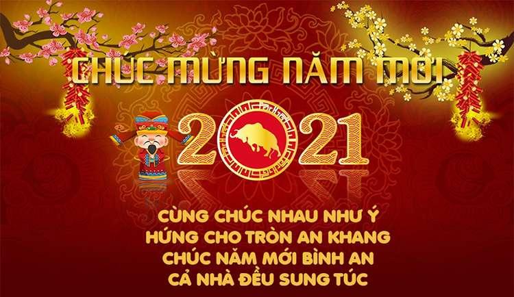 Thiệp chúc tết 2021 Tân Sửu