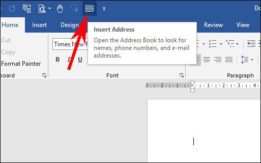 Cách chèn liên hệ Outlook trong Word - Ảnh minh hoạ 4