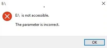 "Cách khắc phục lỗi ""The Parameter Is Incorrect"" trong Windows 10"