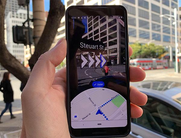 Chế độ Live View trong Google Maps