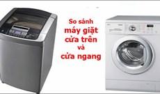 So sánh máy giặt cửa trên và cửa ngang